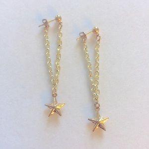 Golden Hanging Star earrings